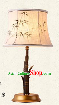 Traditional Chinese Palace Lantern Handmade Painted Bamboo Leaf Desk Lanterns Ancient Lamp
