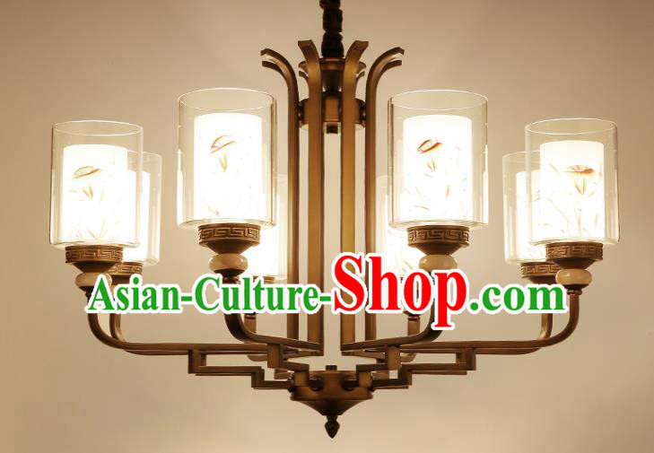 China Handmade Eight-Lights Ceiling Lanterns Traditional Chinese Palace Lantern Ancient Lanterns