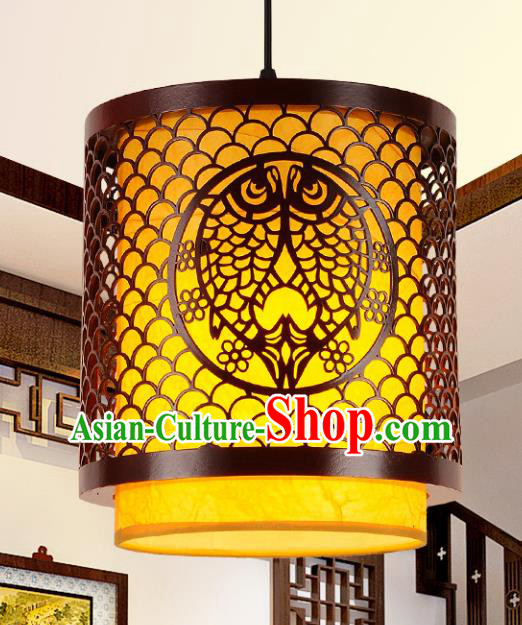 Top Grade Handmade Carving Fishes Lanterns Traditional Chinese Palace Lantern Ancient Ceiling Lanterns