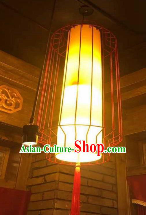 Top Grade Handmade Golden Hanging Lanterns Traditional Chinese Palace Lantern Ancient Ceiling Lanterns