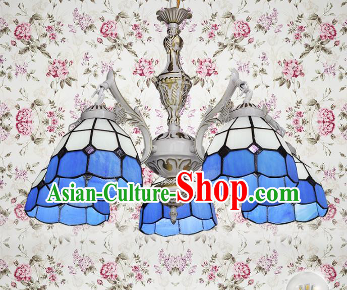 Top Grade Handmade Hanging Lanterns Traditional Chinese Five-Lights Palace Lantern Ancient Ceiling Lanterns