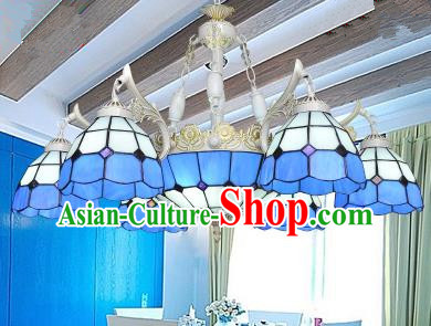 Top Grade Handmade Hanging Lanterns Traditional Chinese Seven-Lights Palace Lantern Ancient Ceiling Lanterns