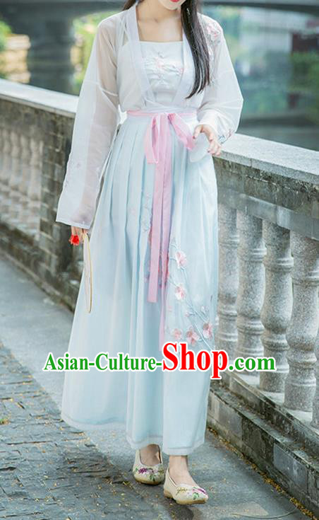 Ancient Chinese Song Dynasty Nobility Lady Princess Embroidered Costume for Women