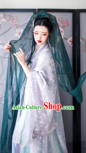 Ancient Chinese Tang Dynasty Imperial Princess Embroidered Dress Clothing for Women