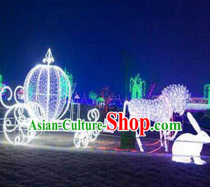 Traditional Christmas Gharry Light Show Decorations Lamps Stage Display Lamplight LED Lanterns