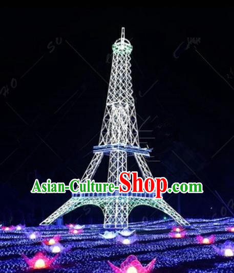 Traditional Christmas Tower Light Show Decorations Lamps Stage Display Lamplight LED Lanterns