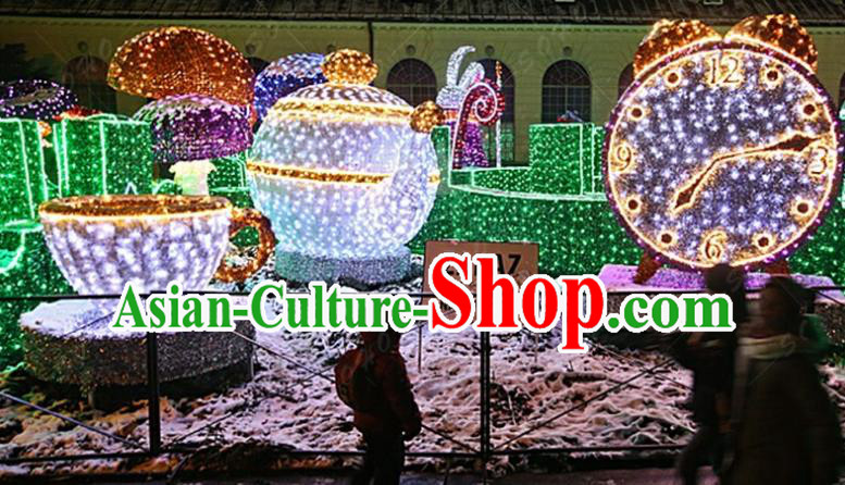 Traditional Christmas Light Show Decorations Lamps Stage Display Lamplight LED Lanterns
