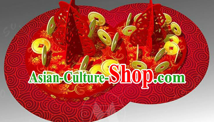 Handmade China Spring Festival Lights Red Arrangement Lamplight Decorations Stage Display Lanterns