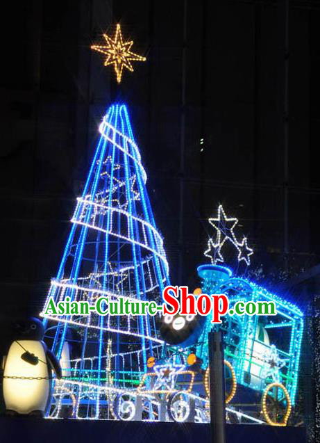 Traditional Handmade Shiny Blue Christmas Tree Lights Lamplight Decorations LED Lamp Lanterns Bulb