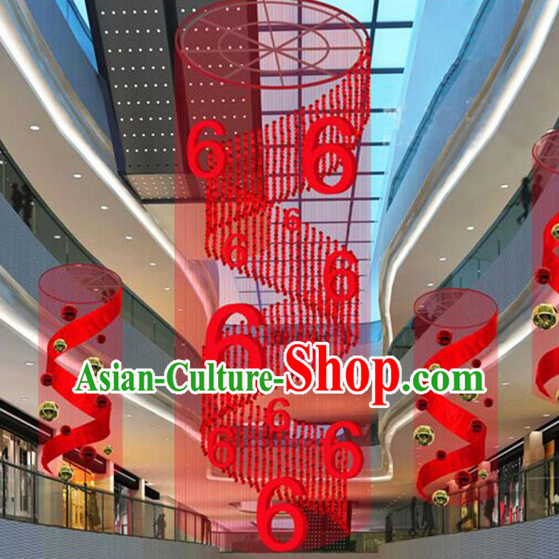Handmade China Traditional Spring Festival Decorations Red Lanterns Display Lamp