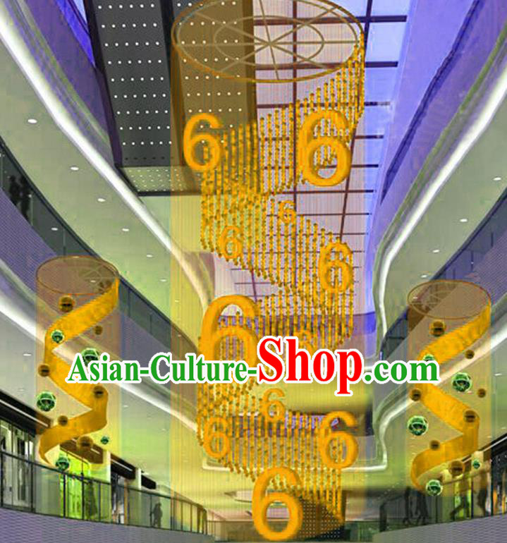 Handmade China Traditional Spring Festival Decorations Yellow Lanterns Display Lamp