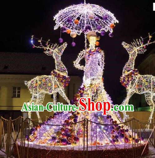 Traditional Handmade Christmas Lights Show Decorations Shiny Beauty Lamplight LED Lanterns
