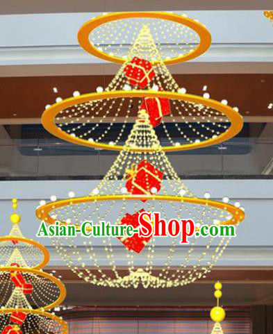 Handmade China Traditional New Year Decorations Yellow Lanterns Lamplight LED Lamp