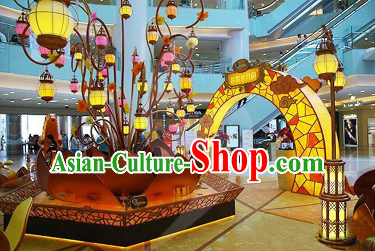 Handmade Chinese New Year Spring Festival Decorations Lanterns Stage Display Lamp