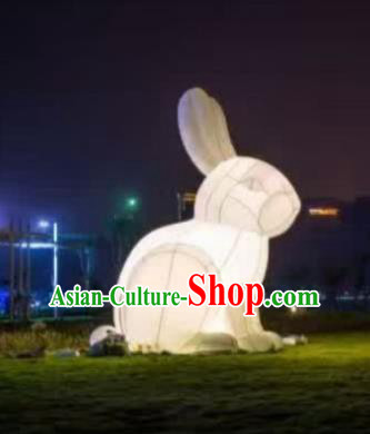 Handmade China Mid-Autumn Festival Decorations Rabbit Lanterns Stage Display Lamp
