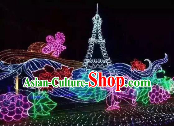 Traditional Tower Light Show Decorations Lamps Stage Display Lamplight LED Lanterns