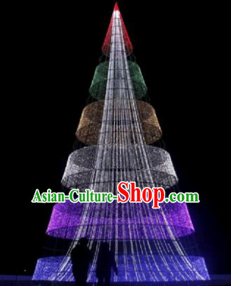 Traditional Christmas Tree Light Show Decorations Lamps Stage Display Lamplight LED Lanterns
