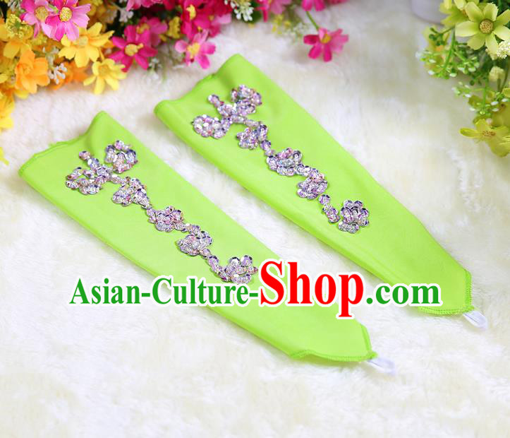 Indian Bollywood Belly Dance Accessories Green Oversleeve Sleevelet for Kids