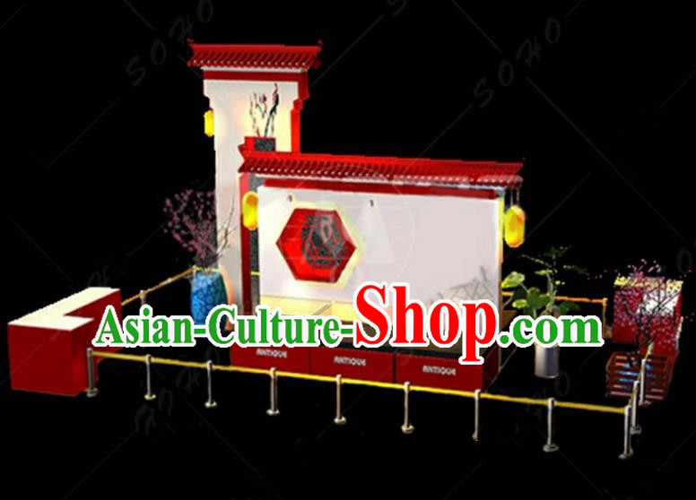 China Traditional New Year Lamp Courtyard Lamplight Decorations Stage Display Lanterns