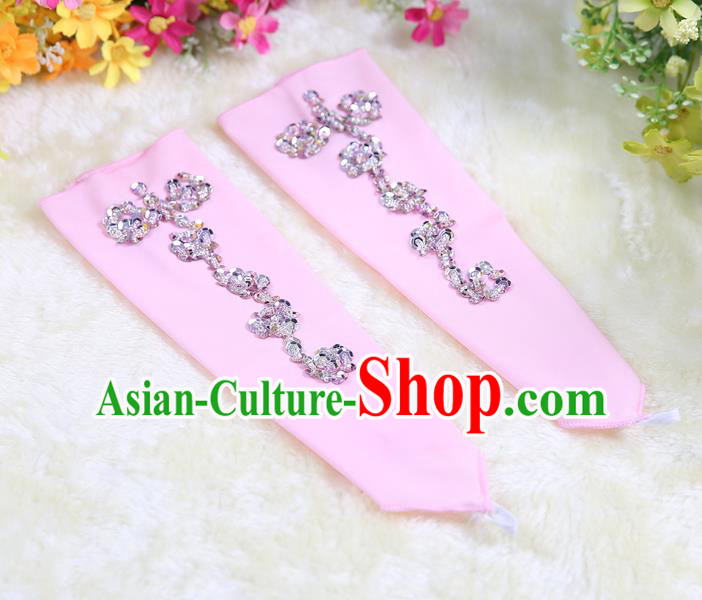 Indian Bollywood Belly Dance Accessories Pink Oversleeve Sleevelet for Kids
