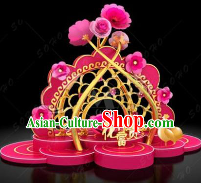 China Traditional New Year Flowers Lamp Decorations Lamplight Stage Display Lanterns