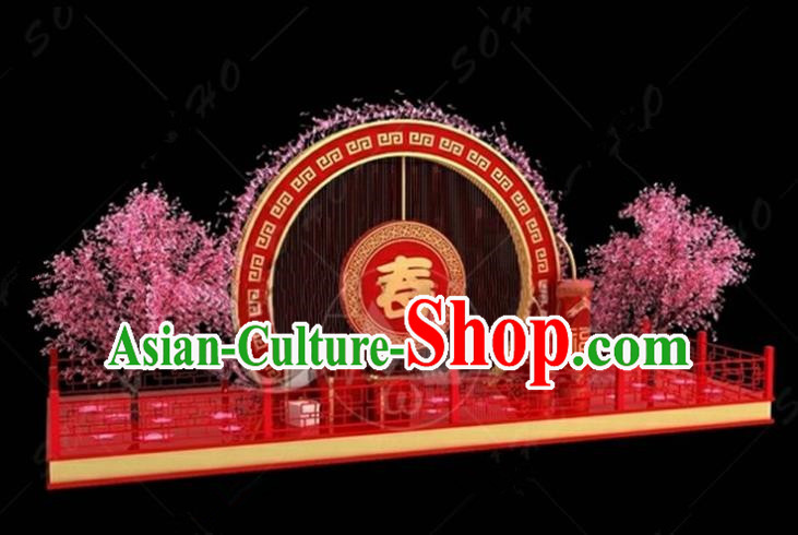 China Traditional Spring Festival Lamp Decorations Chinese Knot Lamplight Stage Display Lanterns