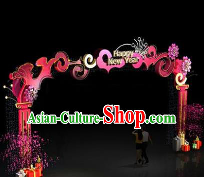 China Traditional New Year Archway Lamp Decorations Lamplight Stage Display Lanterns