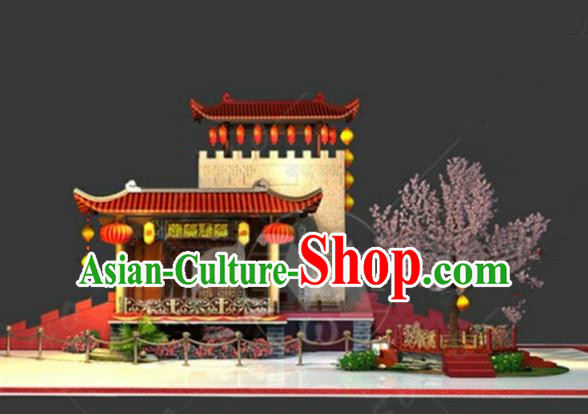 China Traditional Courtyard New Year Lamp Decorations Lamplight Stage Display Lanterns