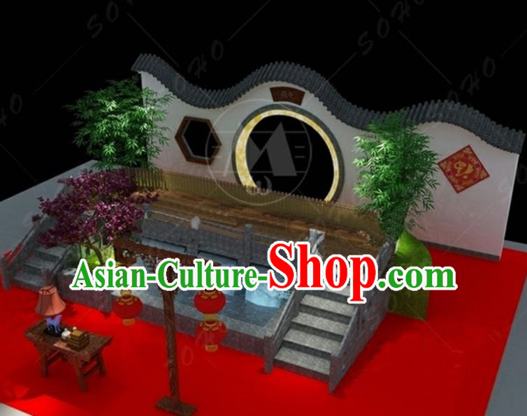China Traditional Courtyard Arrangement New Year Lamp Decorations Lamplight Stage Display Lanterns
