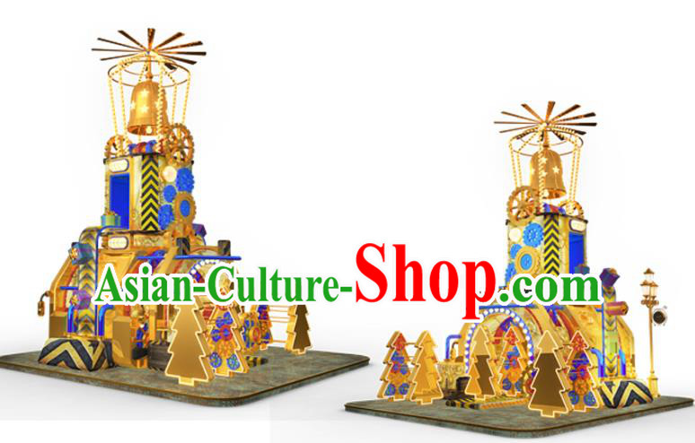 Traditional Christmas Bells LED Lights Show Lamp Decorations Stage Lamplight Display Lanterns