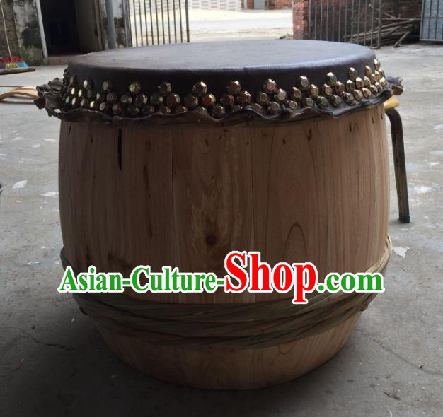 China Traditional Lion Dance Instruments Cowhide Drum Wood Lion Drums
