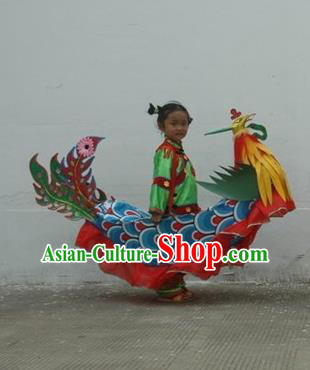 Chinese Traditional Children Land Boat Dance Props Professional Celebration Parade Phoenix Boat