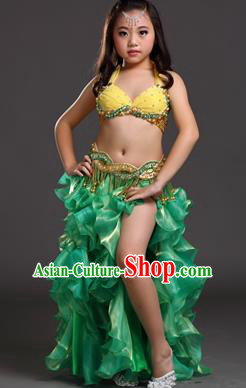 Traditional Indian Belly Dance Dress Asian India Oriental Dance Costume for Kids