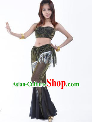 Traditional Indian Belly Dance Training Clothing India Oriental Dance Black Outfits for Women