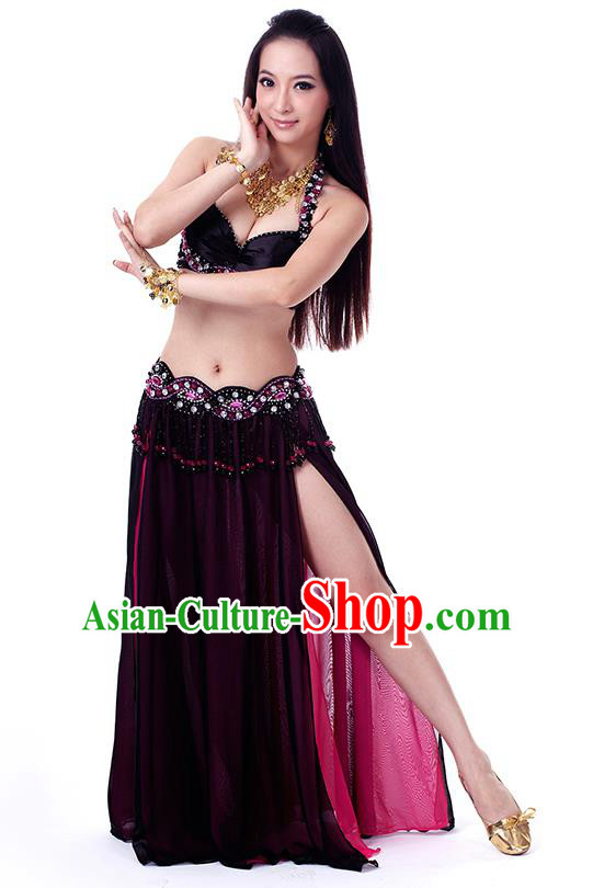 Traditional Indian Belly Dance Black Dress India Oriental Dance Clothing for Women