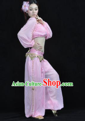 Traditional Bollywood Dance Performance Pink Clothing Indian Dance Belly Dance Costume for Women