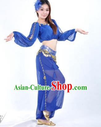 Traditional Bollywood Dance Performance Royalblue Clothing Indian Dance Belly Dance Costume for Women