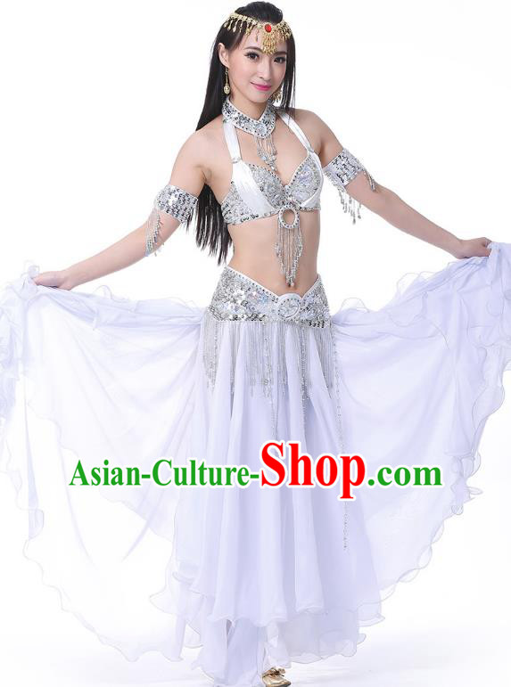 Traditional Bollywood Dance White Dress Indian Dance Belly Dance Costume for Women