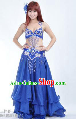 Traditional Indian Bollywood Belly Dance Royalblue Dress India Oriental Dance Costume for Women
