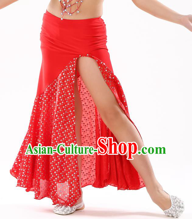 Traditional India Oriental Bollywood Dance Red Skirt Indian Belly Dance Costume for Kids