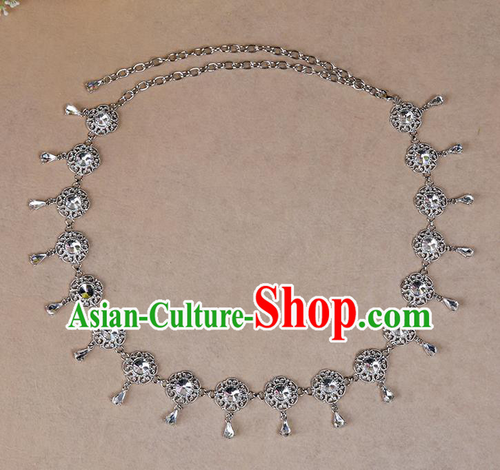 Indian Belly Dance Crystal Waist Accessories Stage Performance Oriental Dance Belts Waist Chain for Women