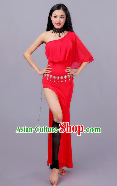 Top Indian Belly Dance Red Dress India Traditional Oriental Dance Performance Costume for Women