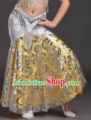 Top Indian Belly Dance Children White Skirt India Traditional Oriental Dance Performance Costume for Kids