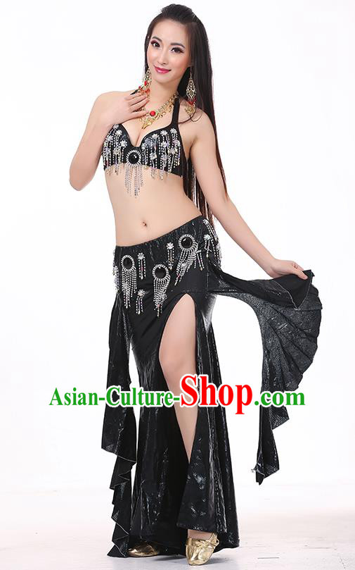Top Indian Belly Dance Black Dress India Traditional Raks Sharki Oriental Dance Performance Costume for Women