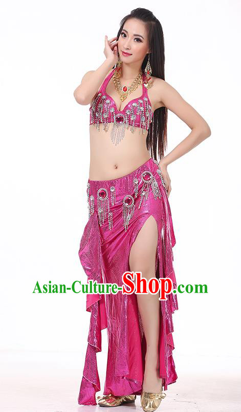 Top Indian Belly Dance Rosy Dress India Traditional Raks Sharki Oriental Dance Performance Costume for Women