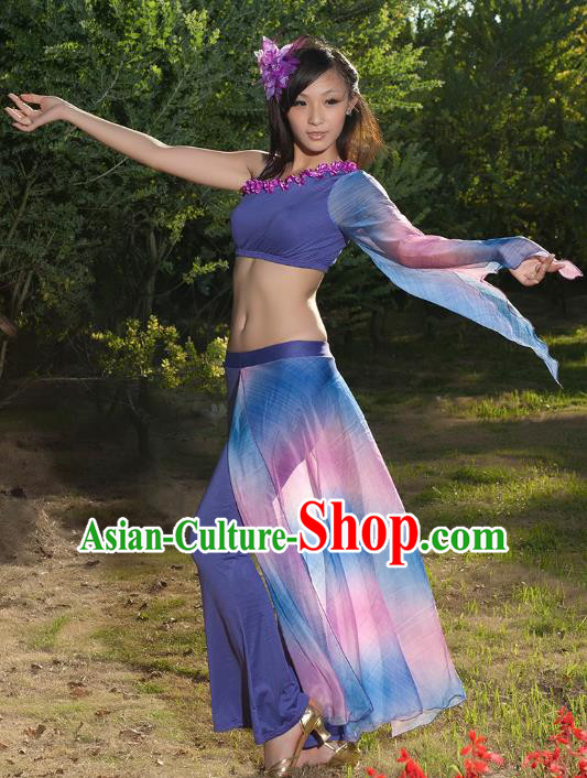 Indian Traditional Belly Dance Costume Classical Oriental Dance Gradient Dress for Women