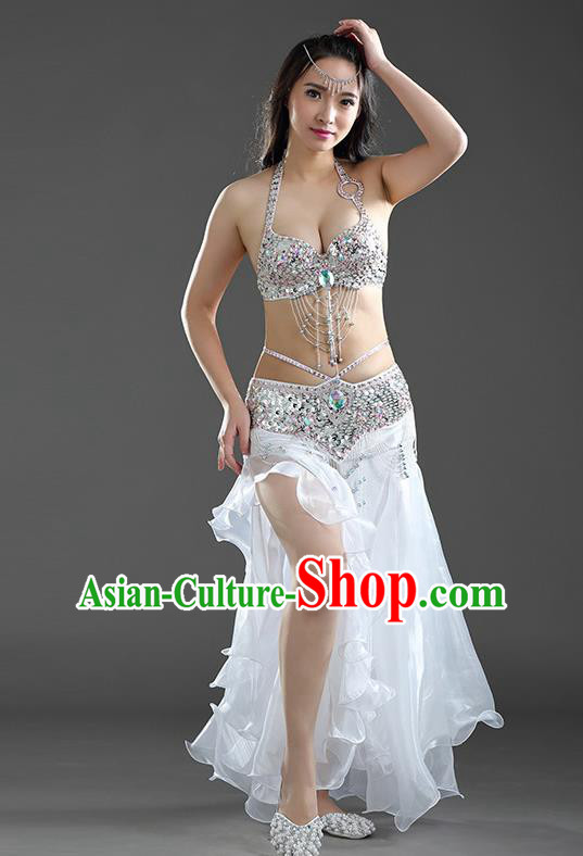 Top Indian Belly Dance India Traditional Raks Sharki White Dress Oriental Dance Costume for Women