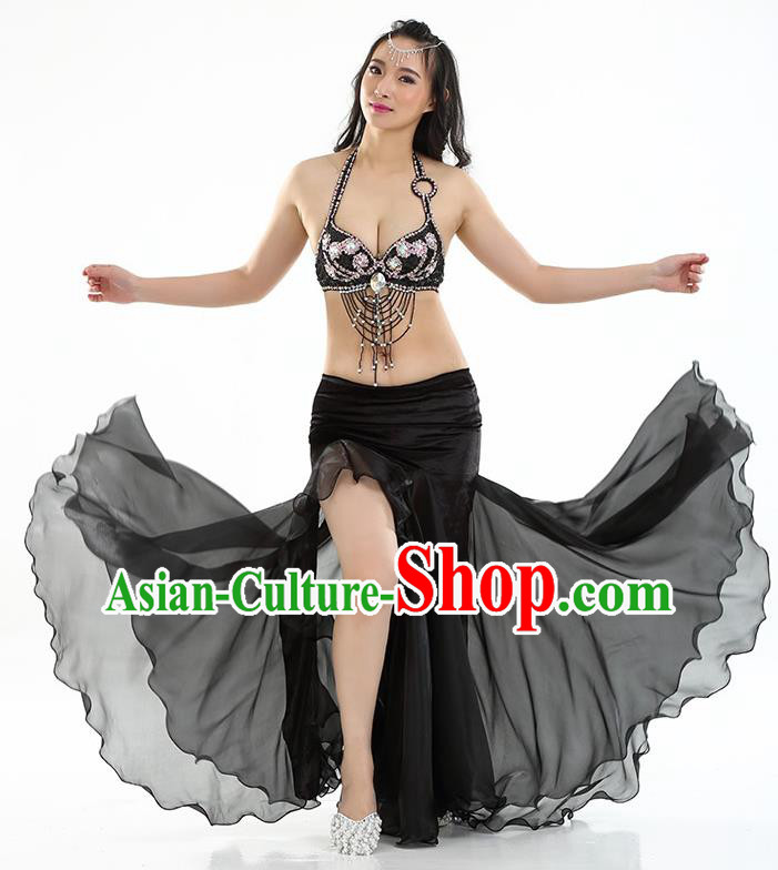 Top Indian Belly Dance India Traditional Raks Sharki Black Dress Oriental Dance Costume for Women