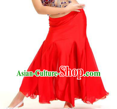 Asian Indian Belly Dance Red Fishtail Skirt Stage Performance Oriental Dance Clothing for Kids