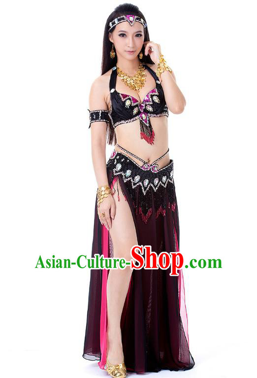 Traditional Bollywood Belly Dance Clothing Indian Oriental Dance Sexy Dress for Women